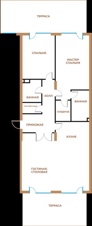 3-х комнатная квратира