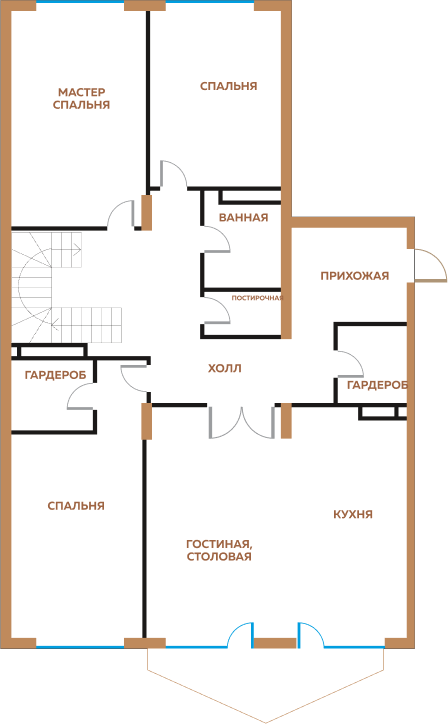 4-х комнатная квартира + Терраса