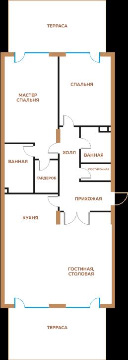3-комнатная квратира
